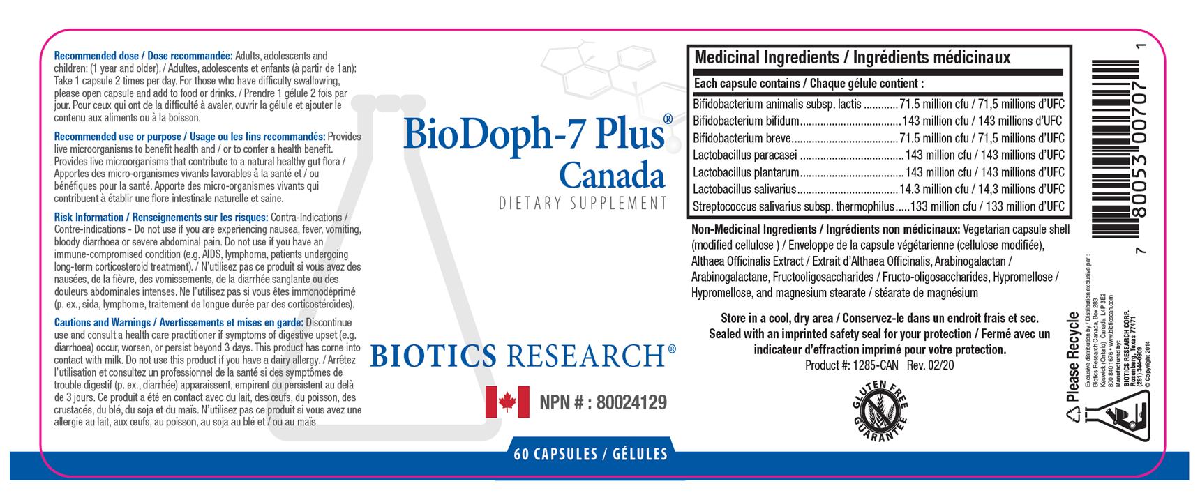 BioDoph-7 Plus - Label