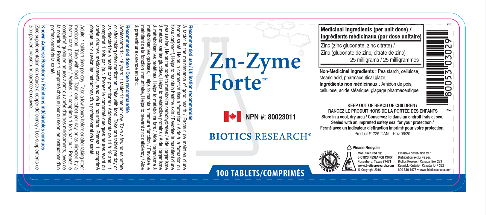 Zn-Zyme-Forte-Label